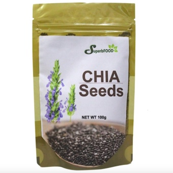 Superbfood Chia Seeds 100 grams with FREE Flawless Papaya Soap