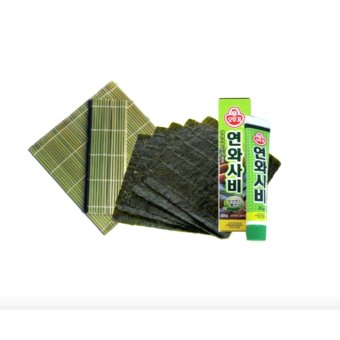 Sushi Maker Bundle (Nori, Bamboo Mat And Wasabi Paste) with FREE Flawless Papaya Soap