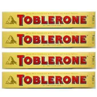 Toblerone Milk Chocolate with Honey and Almond 100g - Set of 4