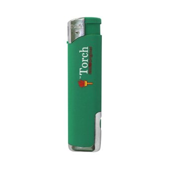 Torch Lighter with Flashlight -Green