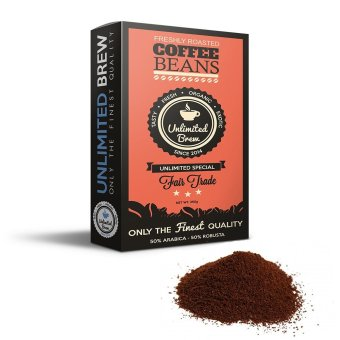 Unlimited Brew Special Ground Coffee Beans (Orange)