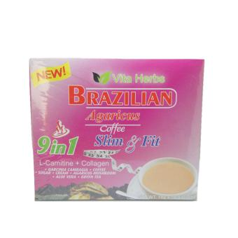 Vita Herbs Brazilian Agaricus 9-in-1 Slim & Fit Coffee, 10 Sachets