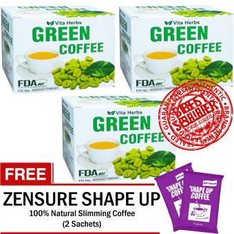 Vita Herbs Green Coffee (3 Boxes) FREE Shape Up Sliming Coffee