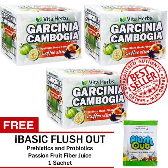 Vita Herbs Garcinia Cambogia Coffee Slim (3 Boxes) FREE Flush Out Colon Cleanse 1 Sachet