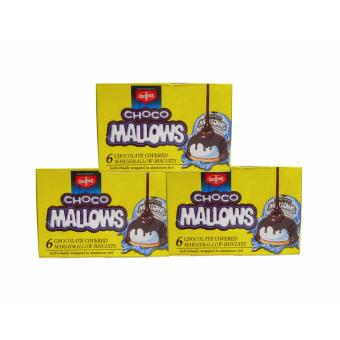 Yellow Fibisco Choco Mallows 6 Chocolate Covered MashmallowsBiscuits 100g 3's 352314 w51 (MP)