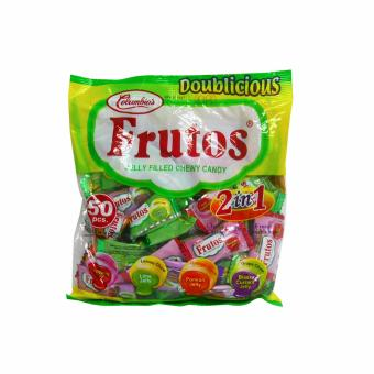 Yellow Green Colombia's Frutos Jelly Filled Chewy Candy 2n1 50pcs160g 3's 808784 w51 (MP) - 2