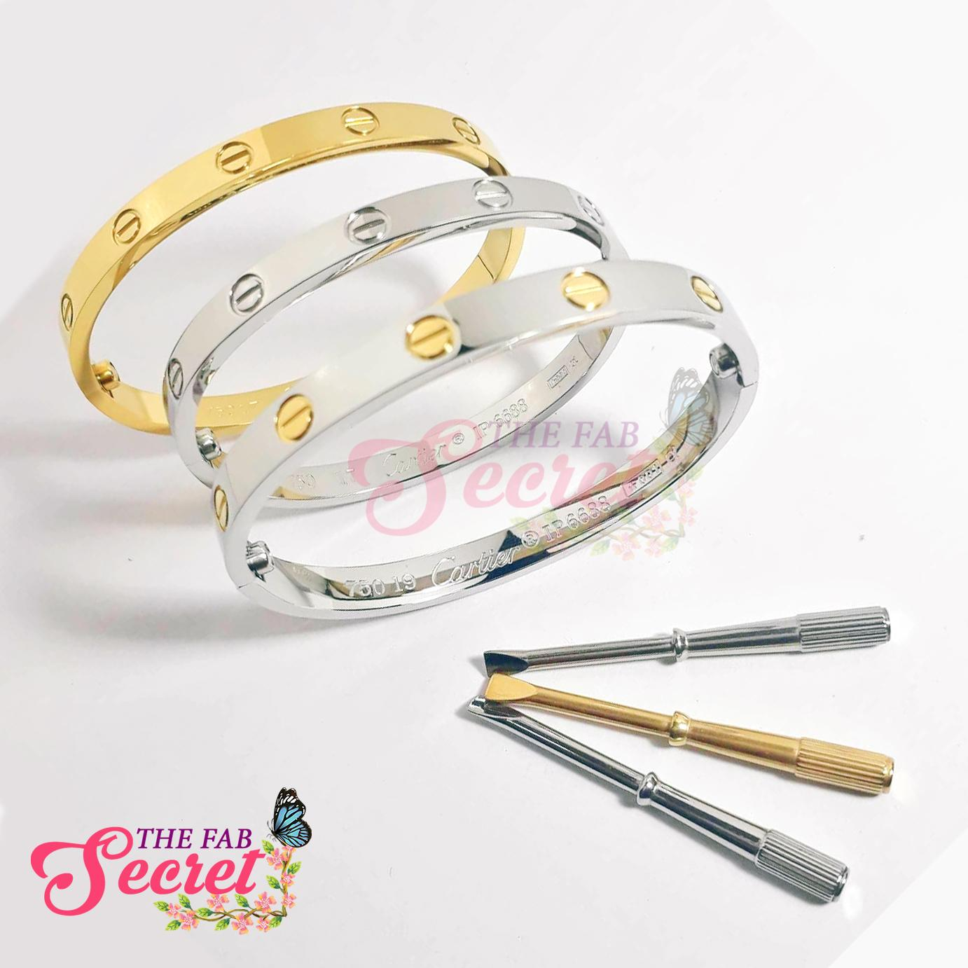 33338a30a4ac8 BIG SALE TFS High Quality Stainless Steel Love Bangle w/ Screw, Classic  Design, Fashionable, Elegant, Ideal Gift for Any Occasion, Unisex, Elegant  ...