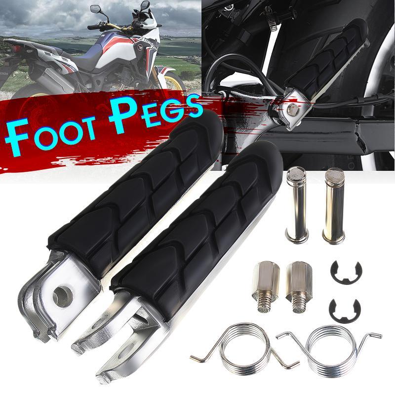 Footrest Foot Pegs For Honda CBR Shadow Spirit VTX Kawasaki Ninja Vulcan Virago