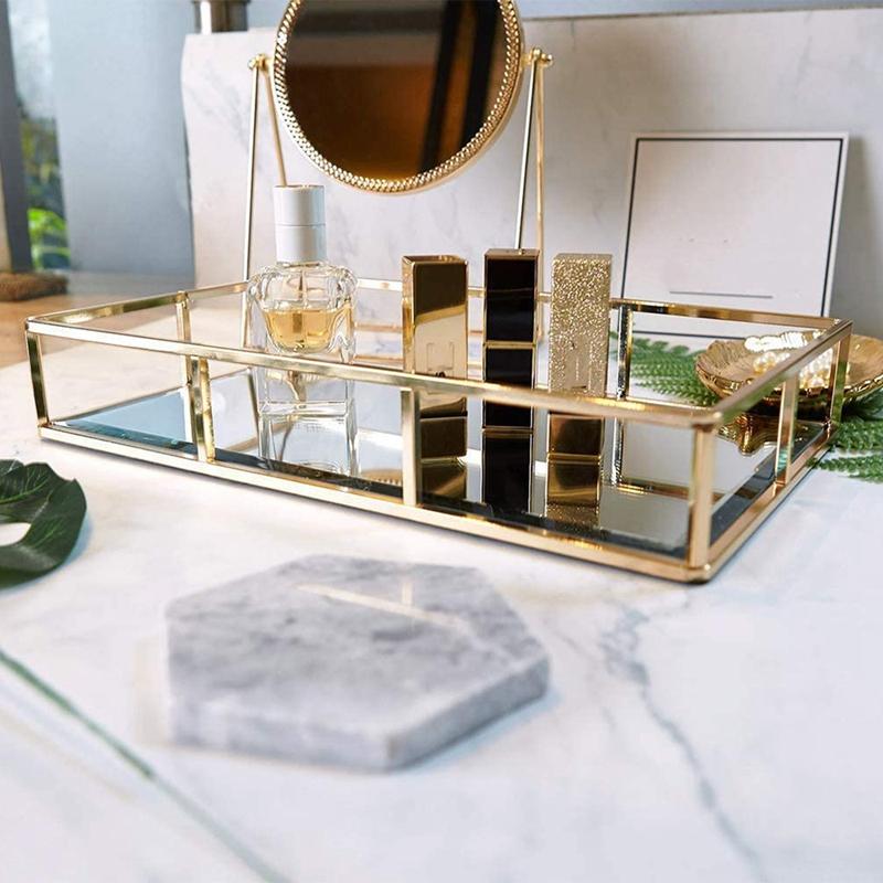 Perfume Tray Candle Tray Mirror Tray Table Gold Ornate Tray Gold Vanity Tray Gold Drinks Tray Metal Mirror Tray Lazada Ph