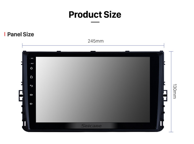 9 inch Android 8.1 HD TouchScreen GPS Navigation System for 2018 VW Volkswagen Universal with Bluetooth USB WIFI support SWC