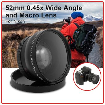 0.45x Macro Wide Angle Lens 52mm for Nikon D5100 D3200 D3100 D3000 D90 D80