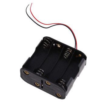 1 Pcs New 8 AA 2A Battery 12V Clip Holder Box Case with 6inch Leads Black - Intl