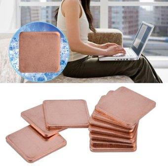 10 pcs 20 * 20mm Copper Sheet Shim Piece Heat Sink Thermal Pad ForGPU CPU Laptop 0.3mm - intl ...
