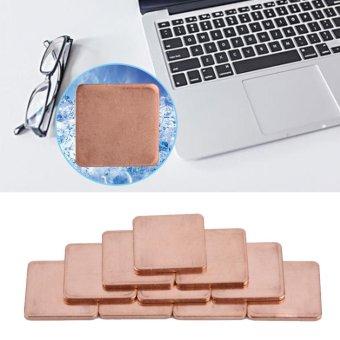 10 pcs 20 * 20mm Copper Sheet Shim Piece Heat Sink Thermal Pad ForGPU CPU Laptop 0.8mm - intl ...