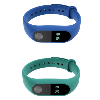 10 pcs Silicone Replacement Watchband Watch Band Strap for Xiaomi Mi Band 2 Smart Bracelet - intl - 4