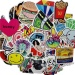 100 Pcs Laptop Stickers Cartoon Removable Car Stickers MotorcycleBicycle Skateboard Stickers - intl