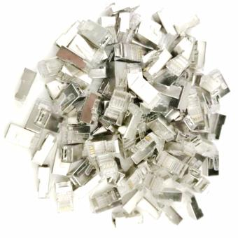 100pcs RJ45 Cat6 STP Metal Network Connectors Plug Terminals forEthernet Cable