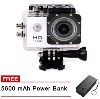 1080p HD 12MP WIFI Camcorder (Sliver) with FREE 5600mah Powerbank