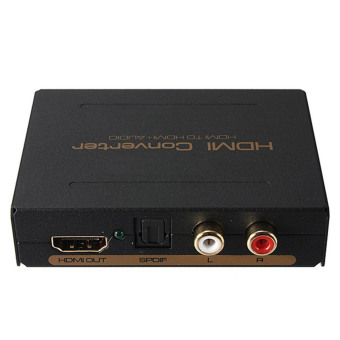 1080P HDMI to HDMI Optical + SPDIF + RCA L/R Extractor TV Converter Audio Splitter - intl - 3