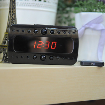 1080P SPY Hidden Camera Clock Remote Night Vision MotionDetectionMini DV - Intl