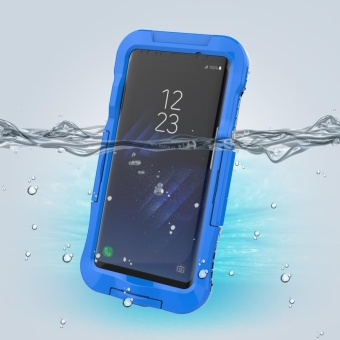 10M Underwater Waterproof Soft Silicone + Plastic Phone Case forSamsung Galaxy S8 Plus G955 - Blue - intl