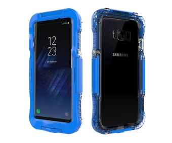 10M Underwater Waterproof Soft Silicone + Plastic Phone Case forSamsung Galaxy S8 Plus G955 - Blue - intl - 2