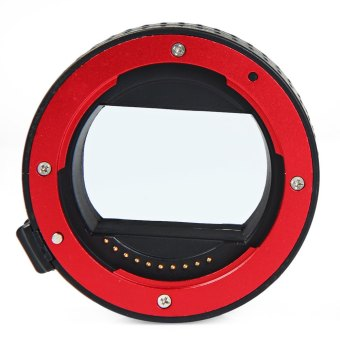 10mm 16mm Auto Focus Macro Extension DG Tube Set For Sony E-mount Camera (Red) - 5
