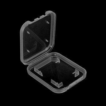 10PCS Transparent Standard SD SDHC Memory Card Case Holder BoxStorage Plastic - intl - 5