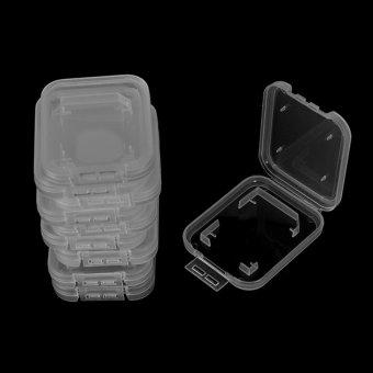 10PCS Transparent Standard SD SDHC Memory Card Case Holder BoxStorage Plastic - intl - 2