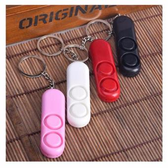 120dB Anti-Attack Security Panic Loud Alarm Emergency Siren Key Chain (Pink) - 4