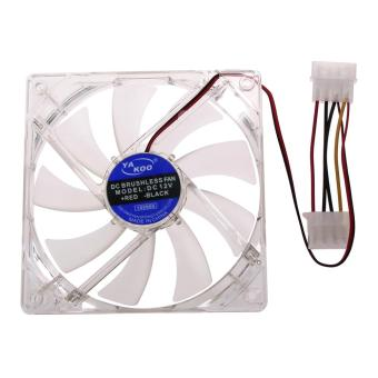 120mm 4 LED Blue Computer Case Cooling Fan