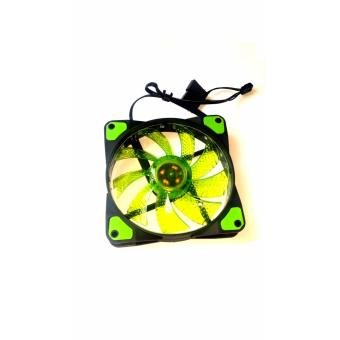 120mm cpu case fan green fan blades 15 led green