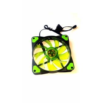 120mm cpu case fan green fan blades 15 led green buy 1 take 1 - 3