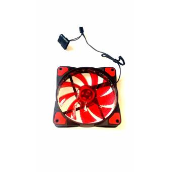 120mm cpu case fan red fan blades 15 led red Price Philippines