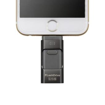 128GB 3in1 Usb flash drive For iPhone/iPad/Android/PC i-FlashdrivePen Drive Micro USB OTG Usb Flash stick (Black+Gray) - intl - 5
