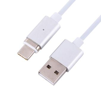 1.2m 4Ft USB 3.1 Type-C Connector Magnetic Charging Data Cable LineWith Plug (Silver) - intl