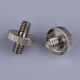 1/4 Male To 1/4 Male Threaded Metal Screw Adapter for TripodMonopod - Intl - 2