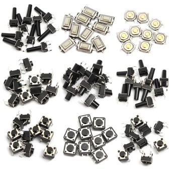 140pcs 14types Momentary Tact Tactile Push Button Switch SMD Assortment Kit Set - 5