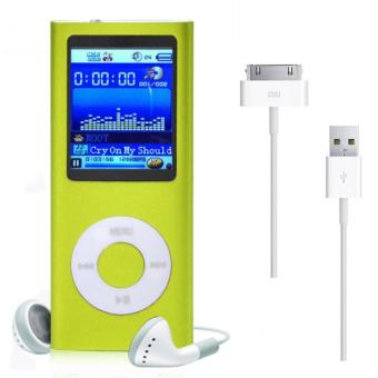 1.8'' 8GB MP3 MP4 Slim Digital LCD Screen FM Radio Music E-book Video Player Green