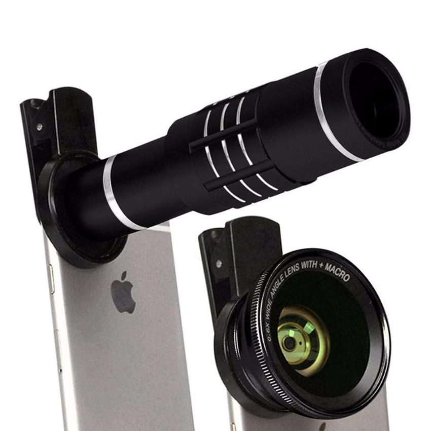 18x Zoom Universal Smartphone Lens w/ Mini Tripod for Mobile Phone(Black)