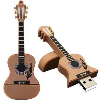 1GB Guitar USB 2.0 Metal Flash Memory Stick Storage Thumb U DiskKhaki - intl