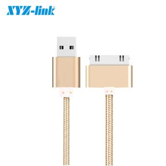 1M For 30 pin Micro Data USB Cable Fast Charging Data Sync Cords For iPhone 4/4S/iPad2/3/4 Nylon Braided Wire Metal plug - intl