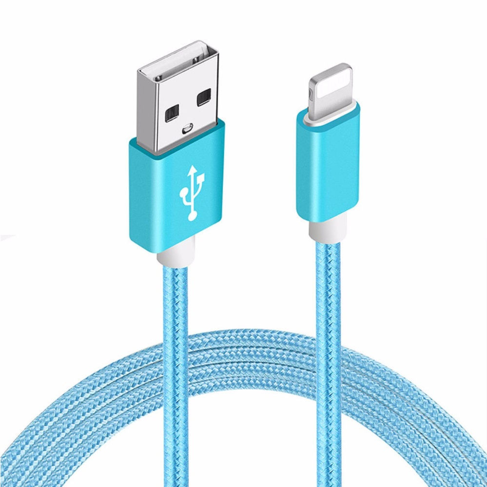 1M Nylon Braided Lightning USB Cable Sync and Charging Cord Compatible with iPhone .
