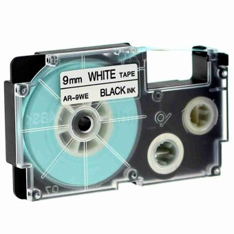 1pcs XR9WE Label Tape Compatible for Casio XR9WE Black on White(3/8inch 9mm) x 8m
