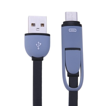 2 in 1 Micro USB+Type-C Sync Data and Charging Cable for Android(Black) - intl