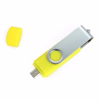 2 IN 1 OTG Pen Drive For Mobile Phone 32GB Memory Stick AndroidSmartphone Usb 2.0 U Disk USB Flash Drive Pendrive_Yellow - intl - 2