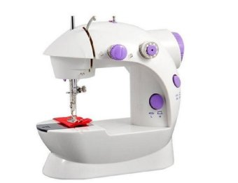 2-Speed Mini Electric Sewing Machine Kit (White / Lavender) - picture 2