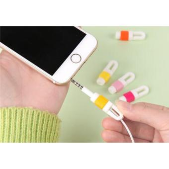 20 Pcs Data Line USB Charging Cable Earphone Cord Saver ProtectorProtection Cover for iPhone iPad Mobile Phone Tablet Cable RandomColor - intl - 5