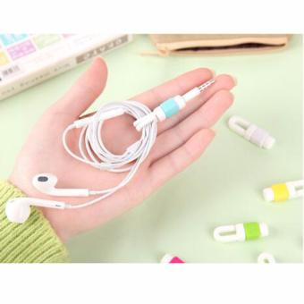 20 Pcs Data Line USB Charging Cable Earphone Cord Saver ProtectorProtection Cover for iPhone iPad Mobile Phone Tablet Cable RandomColor - intl - 3