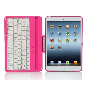 2017 NEW Cover Case with 360 Degree Swivel Rotary Stand BluetoothWireless Keyboard for iPad2/3/4 - intl - 5